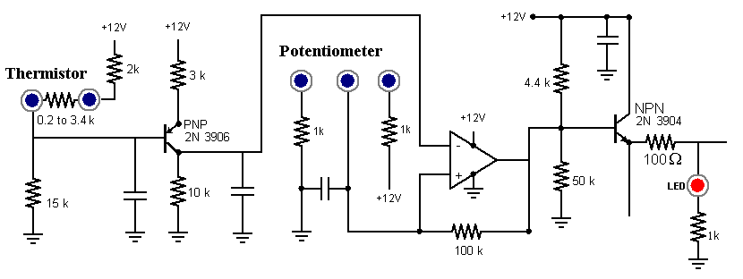 very simple thermistor circuit help